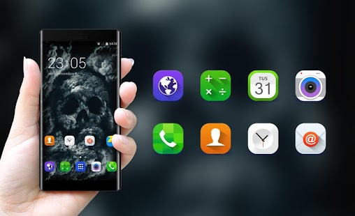 Skull Theme for Samsung Galaxy Tab 3 10.1 3G - náhled