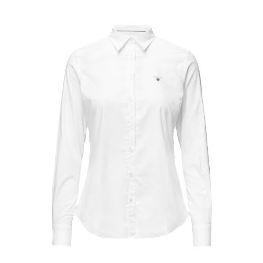 GANT Stretch Oxford Solid Shirt White. Strl 36