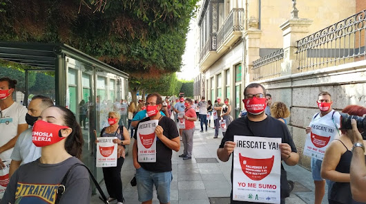 """Hosteleros, a la calle para dar las """"gracias por nada"""" a las administraciones"""
