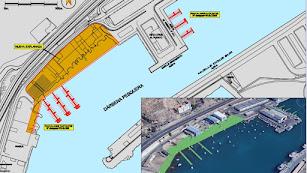 Plano de las actuaciones previstas en el puerto pesquero