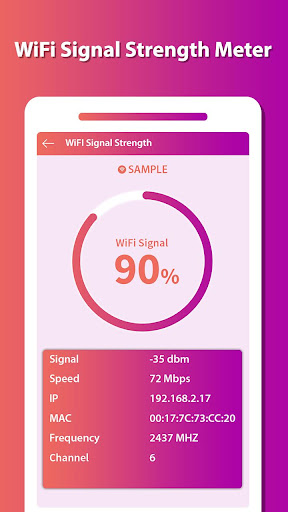Router Setup Page - WiFi Signal Strength checker App Report on
