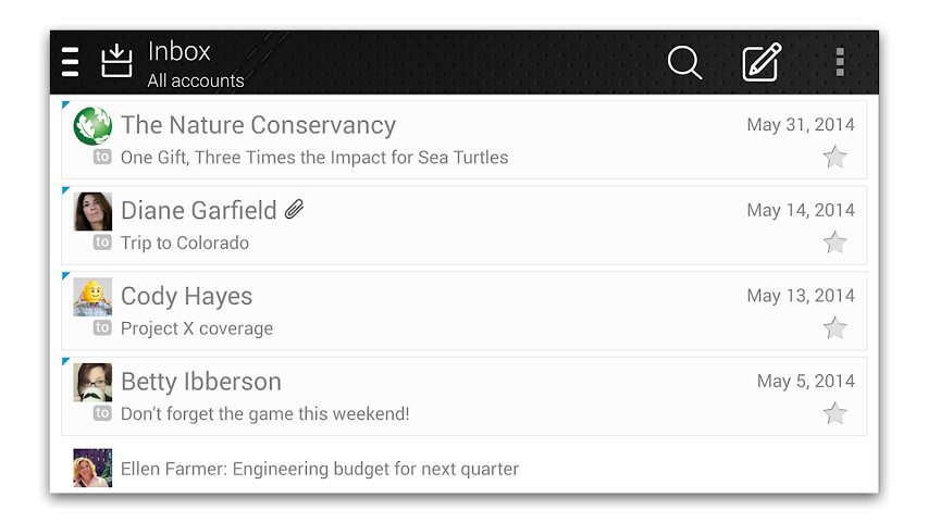 android Fluent Mail Screenshot 2