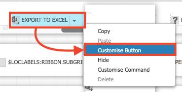 Customise Button選択により、順番の変更が可能