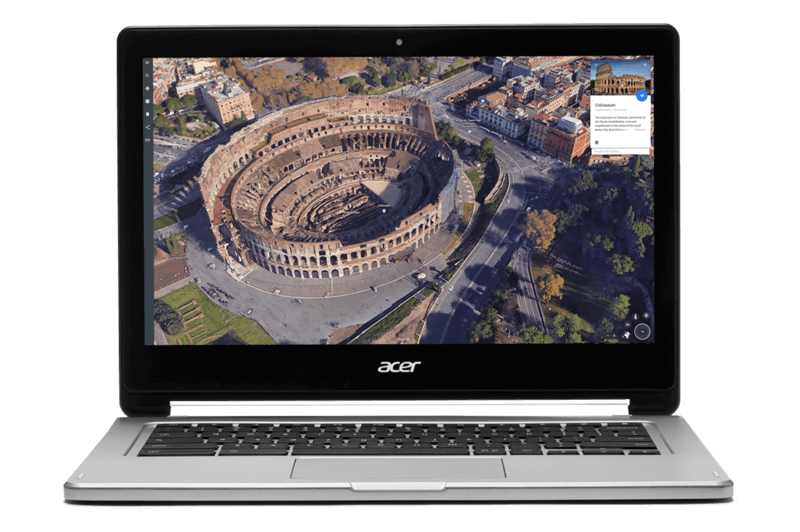 If field trips don't require permission slips You Chromebook. Image of a Chromebook showing the Roman Colosseum.