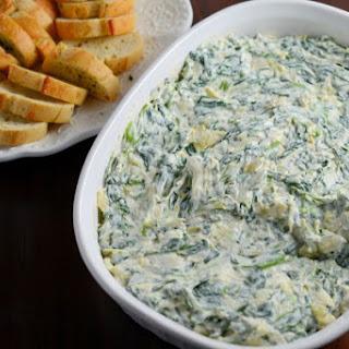 Creamy Spinach and Artichoke Dip.