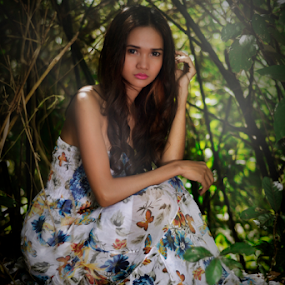 In to the Woods by Rajha Tahir - People Portraits of Women