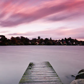 Jetty by Kai Süselbeck - Landscapes Waterscapes ( water, plön, sunset, long exposure, jetty )