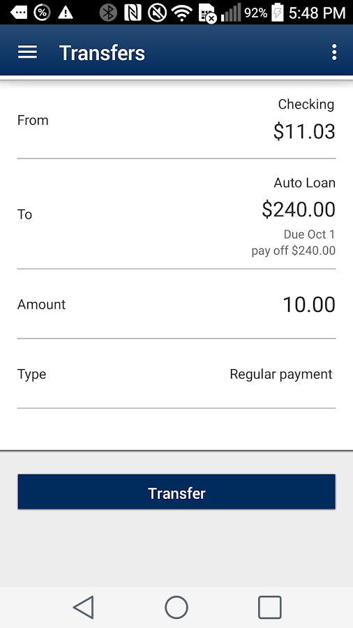 Southern Mass Credit Union- screenshot