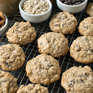 Almond Butter Oatmeal Chocolate Chip Cookies Recipe