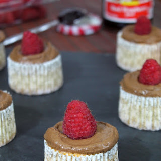 RASPBERRY-CHOCOLATE ANGEL FOOD CUPCAKES