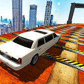Extreme Limo Mega Ramp - Car Driving Games 3D