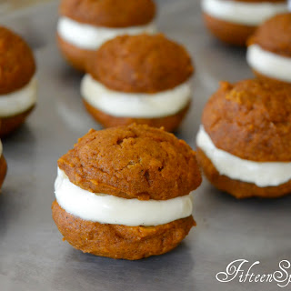Pumpkin Spice Whoopie Pies with Vanilla Cream Cheese Filling