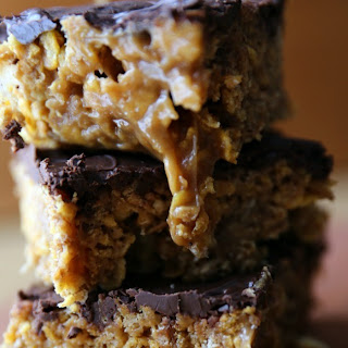 Gooey Honey Bunches of Oats Caramel Cereal Bars