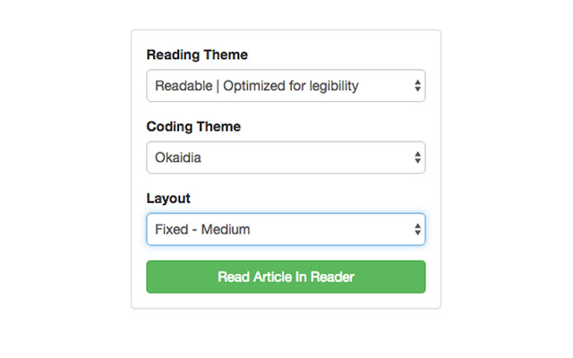 CodeProject Article Reader