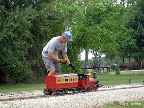 Photo: Jeff Perkins getting the steam oil out.    HALS Public Run Day 2013-0921 RPW