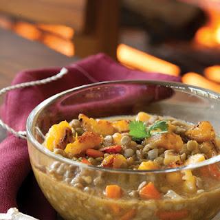 Lentil Soup with Plantains