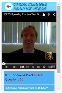 Speak English! Practice Videos- screenshot thumbnail