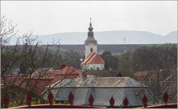 Photo: Turda - Str. Salinelor, vedere Turda-Noua, Biserica Reformata   - 2019.04.05