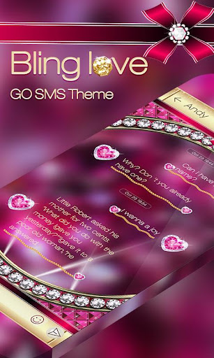 GO SMS PRO BLING LOVE THEME
