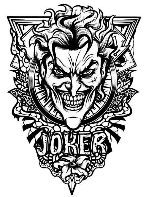 50 Crazy Joker Tattoos Designs