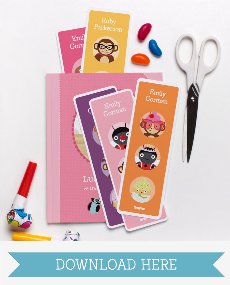 Personalized Printable Bookmarks & Door Hangers - Tinyme