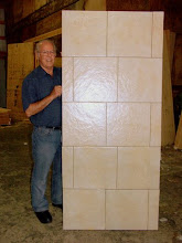 Photo: Sing Core's Honeycomb Torsion Box tiled door using honeycomb sandwich panel core for strength and stability