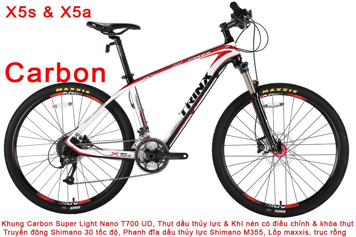 xe dap the thao tRINx X5a x5s carbon