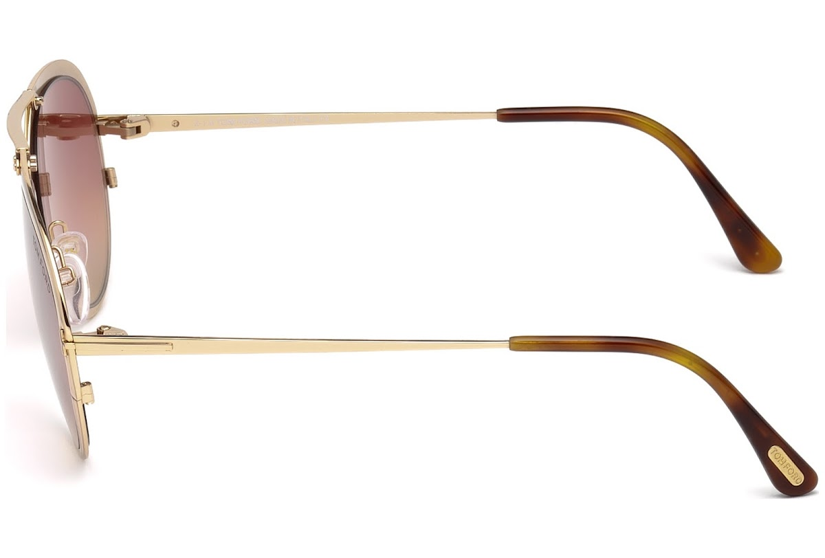 66363ae004e25 Sunglasses Tom Ford Dashel FT0508 C55 28Z (shiny rose gold   gradient)