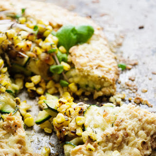 Roasted Corn and Zucchini Pie.