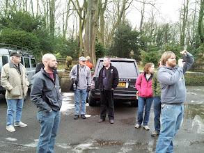 Photo: Thornbridge's Alex Buchanan (center in black) shows us aroundThornbridge Hall - site of the original Thornbridge microbrewery.