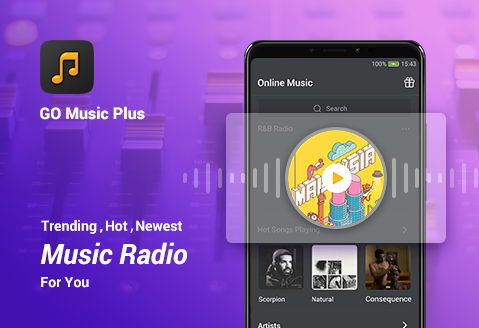 GO Music Plus Player- Free Music, Radio, MP3 screenshot