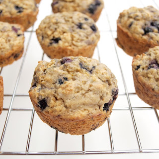 100% Whole Grain Blueberry-Lemon Muffins
