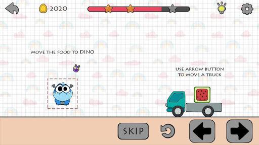 Dino Brain: Brain It On - Draw Physics Line apkpoly screenshots 2