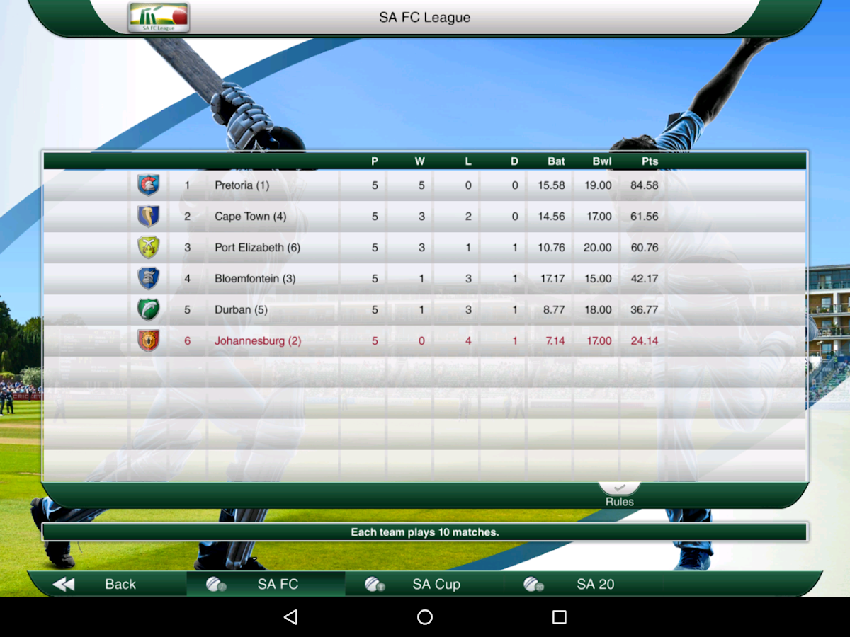 Cricket Captain 2016- screenshot