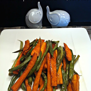 Balsamic-Maple Roasted Sweet Potatoes & Green Beans
