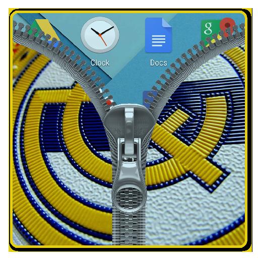 Real Madrid Flag Zipper Lock