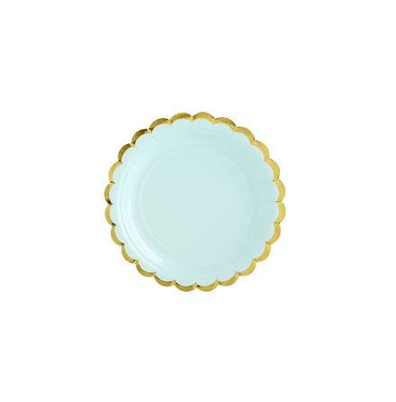 Assietter - Mint & Guld