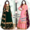 Women Partywear Sharara Dress Suits icon