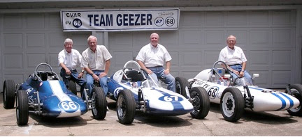 Photo: Team Geezer John Gaudette, Dale Rolison, and Mike Callahan all supported by crew chief, Ted Griffin