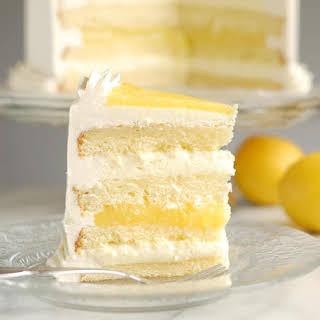 Luscious Lemon Mousse Cake.