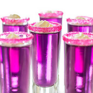 Candy-Sweet Jello Shots with Triple Sec Whipped Cream.