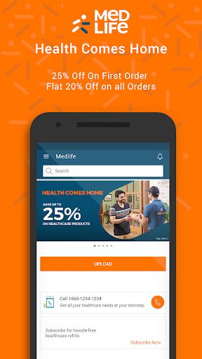 Medlife - No. 1 Online Pharmacy & Healthcare App screenshot 1