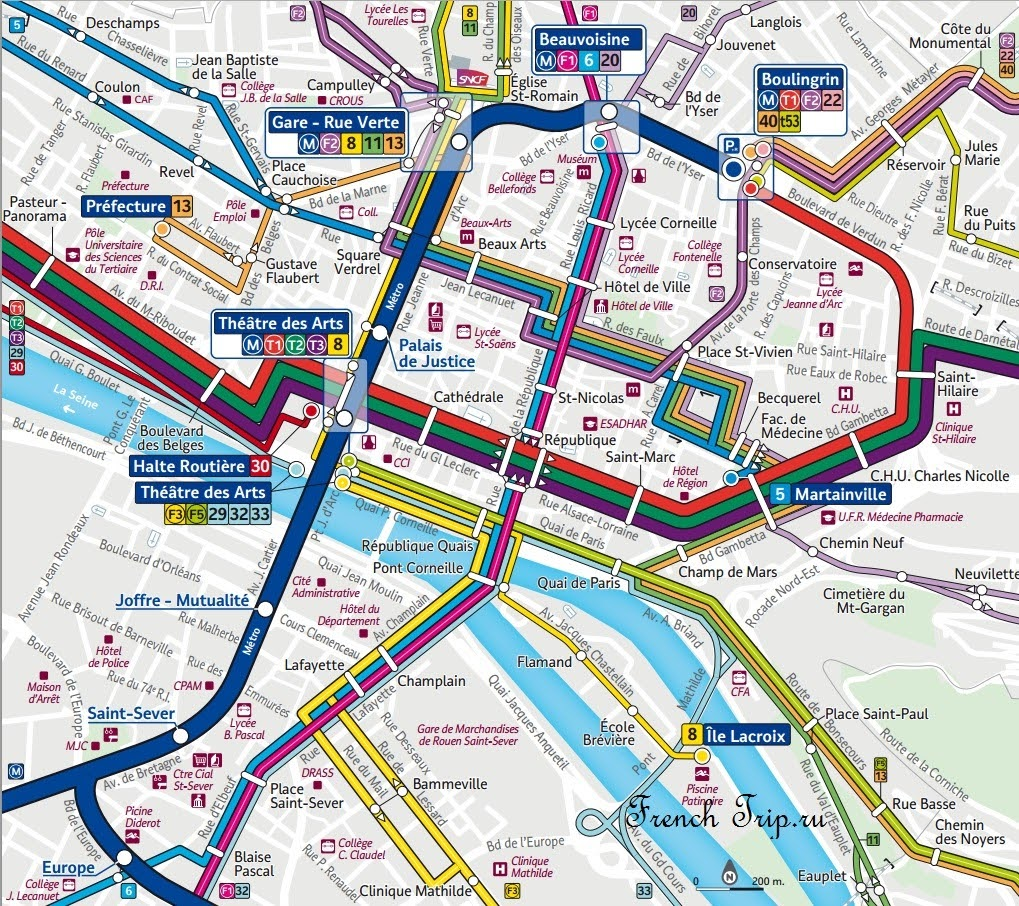 Транспорт по городу Руан - автобусы и метро в Руане, стоимость билетов