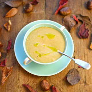 Parsnip And Chestnut Soup With Sage Oil.
