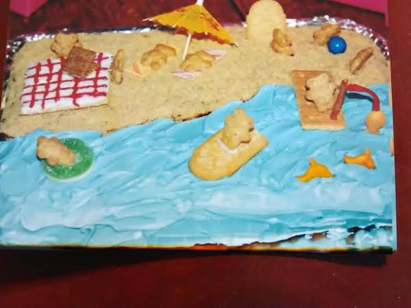 Teddy Bear Beach Party Birthday Cake