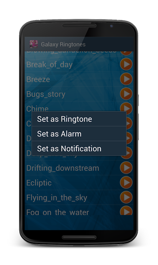 Ringtones Galaxy- screenshot