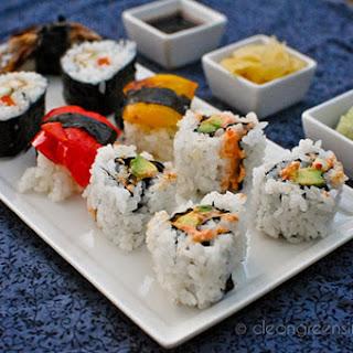 California and Teriyaki Tofu Sushi [Vegan].