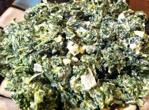 Easy Creamed Spinach Recipe
