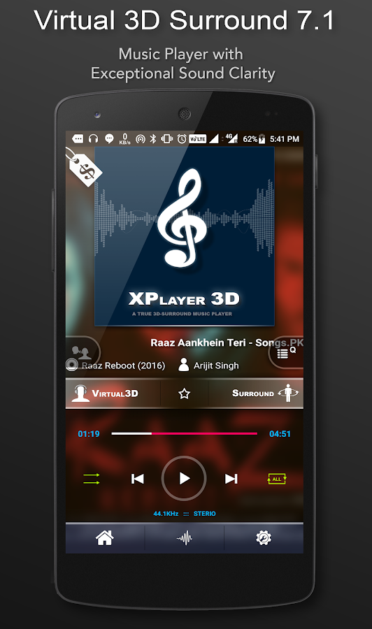 3D Surround Music Player- screenshot