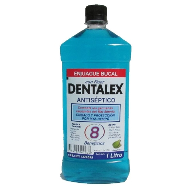 enjuague bucal dentalex menta freca con fluor 1l